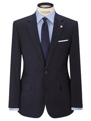 Chester Barrie By Wool Cashmere Tailored Suit Jacket Navy
