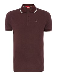 Merc Card Classic Twin Tipped Polo Shirt Wine