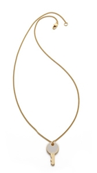 Marc By Marc Jacobs Lock In Pendant Necklace Talc
