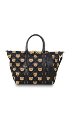 Moschino Printed Quilted Nylon Big Shopper Color