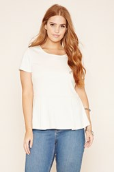 Forever 21 Plus Size Peplum Top