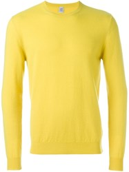 Eleventy Crew Neck Sweater Yellow And Orange