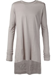 Barbara I Gongini Longsleeved Asymmetric T Shirt Grey