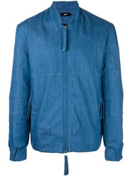 Blood Brother Denim Bomber Jacket Blue