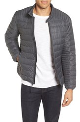 Marc New York Men's By Andrew Lincoln Packable Down Moto Jacket Fog