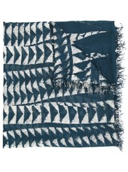 Yigal Azrouel 'Sansseviera' Scarf Blue