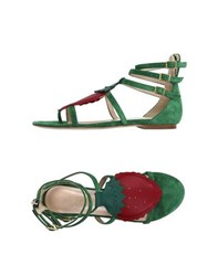 Julie Jolie Footwear Thong Sandals Women Emerald Green