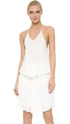 Jay Ahr Crochet Drop Waist Dress White White
