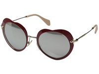 Miu Miu 0Mu 54Rs Red Light Grey Mirror Silver Fashion Sunglasses Gray