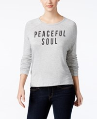 Retro Brand Feel Good Graphic Top Grey