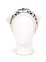 Markus Lupfer Embellished Tiara Beanie Nude And Neutrals