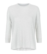 Frame Le Boxy Cashmere Rib Sweater Female Light Grey