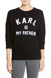 Eleven Paris 'Karl Is My Father' Fleece Pullover Black