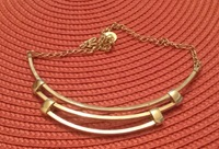 Goldtone Choker 1960 Vintage H And S Goldtone By Wildchild708