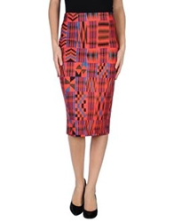 Flage 3 4 Length Skirts Red