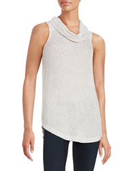 Context Cowlneck Tank Top True White Canvas Taupe