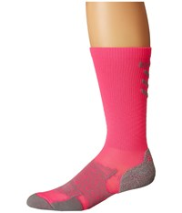 Thorlos Experia Energy Over The Calf Single Pair Electric Pink Crew Cut Socks Shoes