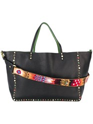 Valentino 'Rockstud Rolling' Reversible Tote Black