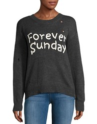 Vintage Havana Forever Sunday Knit Sweater Charcoal