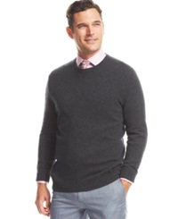 Club Room Big And Tall Cashmere Crew Neck Sweater Dark Charcoal Heather