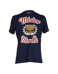 Frankie Morello Topwear T Shirts Men Dark Blue