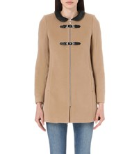 Claudie Pierlot Gardenia Wool Blend Coat Beige
