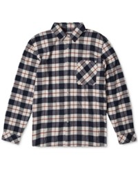 Rip Curl Men's Long Sleeve Countdown Flannel Shirt Navy
