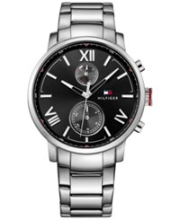 Tommy Hilfiger Men's Sophisticated Sport Stainless Steel Bracelet Watch 44Mm 1791307 Silver