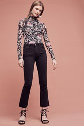 Anthropologie Paige Colette High Rise Cropped Flare Jeans Black