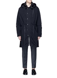 3.1 Phillip Lim Drawstring Waist Hooded Parka Black