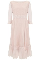 Nougat London Petunia Lace Frill Dress Nude