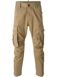 Dsquared2 Cargo Trousers Brown