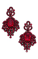 Tasha Women's Crystal Drop Earrings Red Black