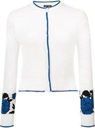 Sophie Theallet Garden Jacquard Cropped Cardigan White