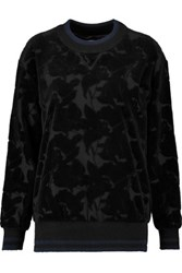 Sonia Rykiel Cotton Blend Devore Jersey Sweatshirt Black
