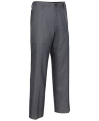 Greg Norman For Tasso Elba Men's Big And Tall Houndstooth Pants Only At Macy's Grey