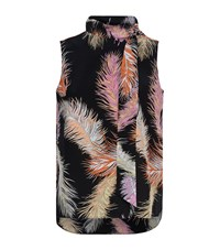 Emilio Pucci Feather Print Silk Blouse Female Black