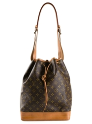 Louis Vuitton Vintage 'Noe' Bucket Shoulder Bag Brown