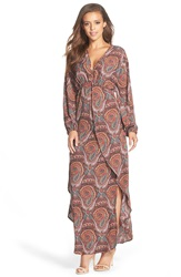 Fraiche By J Paisley Print Maxi Dress Rapsody