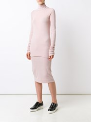 Rick Owens Lilies Funnel Neck Jumper Pink And Purple