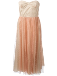 Red Valentino Tulle Bustier Dress Pink And Purple