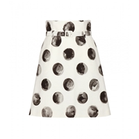 Dolce And Gabbana Printed Cotton Skirt