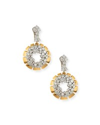 Miseno Vesuvio 18K Diamond Cluster Hoop Drop Earrings 6.7Tcw