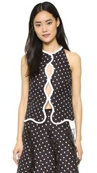 Giambattista Valli Sleeveless Top Black White