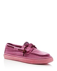 Sperry Bahama Washed Canvas Sneakers Bright Pink