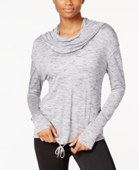 Calvin Klein Performance Cowl Neck Hoodie Pullover Stone Combo