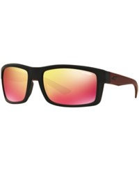 Arnette Sunglasses An4216 Corner Man Black Black Red Mirror