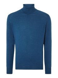 Chester Barrie Merino Roll Neck Blue