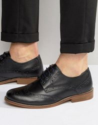 Kg By Kurt Geiger Gloucester Brogues In Black Leather Black