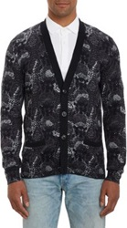 Marc By Marc Jacobs Snake Print Cotton Cardigan Grey
